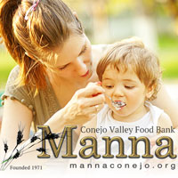Conejo Family Food Bank Logo - Women Feeding a Child