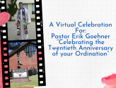 Celebrating Pastor Erik's 20th Anniversary of his Ordination