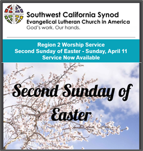 Worship Service, April 11, 2021 Special Worship by several Bishops of the ELCA Lutheran Church
